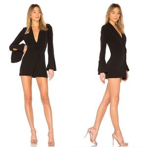 NWT NBD Revolve Como La Flor Suit Dress in Black